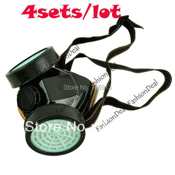 4pcs/lot Wholesale 2013 New Spray Respirator Gas Safety Anti-Dust Chemical Paint Dust Spray Mask Drop Shipping 50