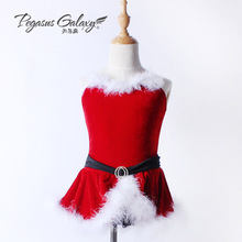 New children's fall/winter women Santa Claus dress modern dresses show performance clothing 1719