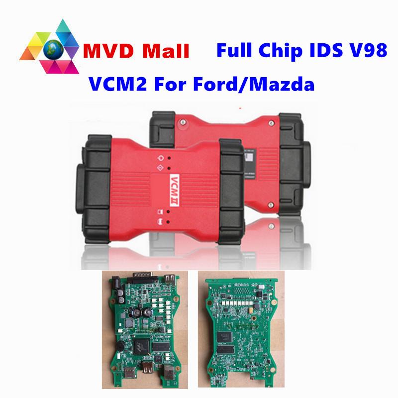 Professional For Ford VCM 2 Full Chip OBD2 Car Diagnostic Scanner VCM II For Ford / Mazda 1996-2015 VCM2 IDS V98 DHL Free Ship(China (Mainland))