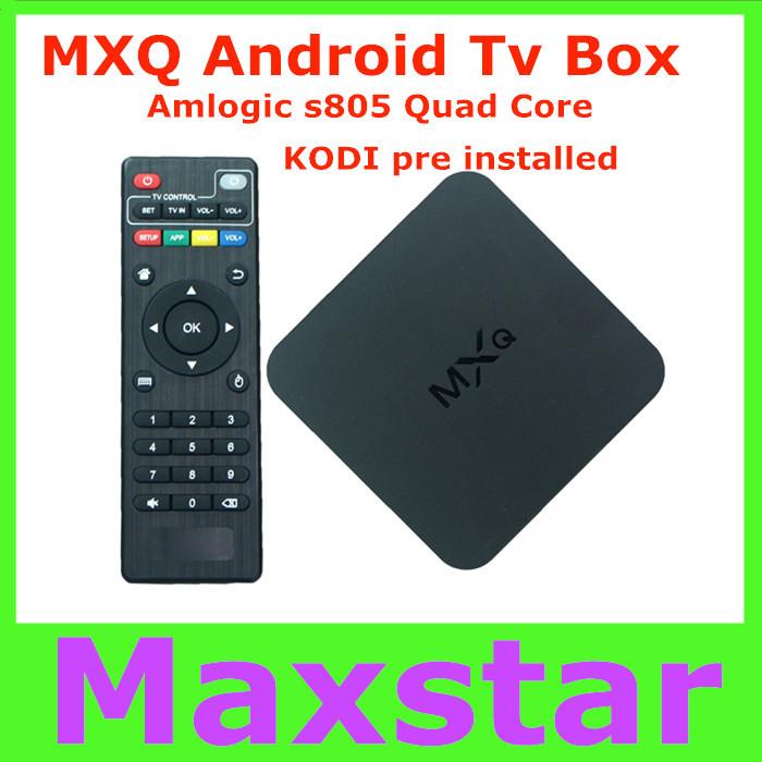 2015 Original New MXQ Android TV BOX Amlogic S805 Quad Core IPTV Android 4.4 H.265 with KODI/XBMC better than MX, M8, CS918(China (Mainland))