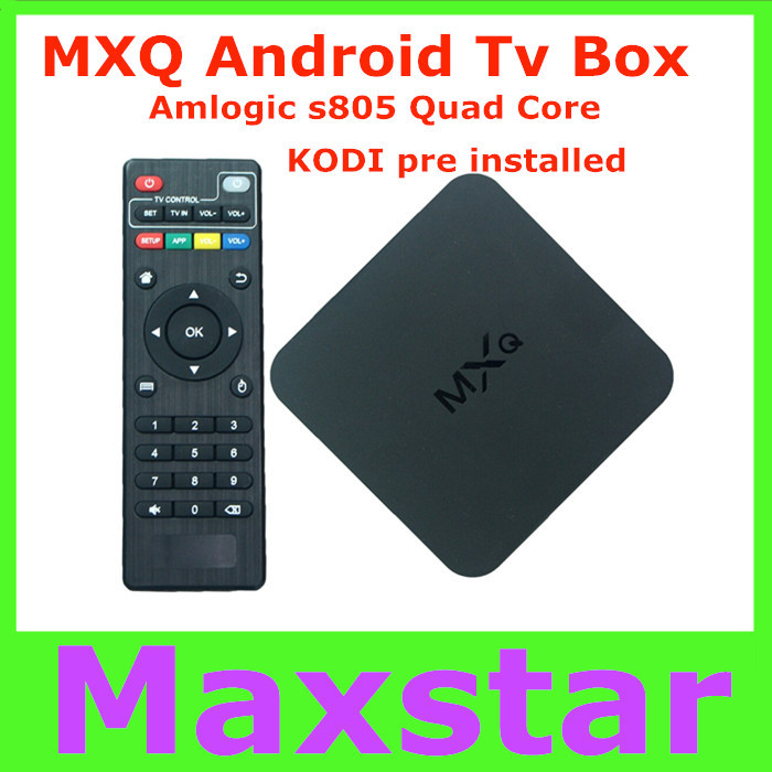 2015 Original New MXQ Android TV BOX Amlogic S805 Quad Core IPTV Android 4.4 H.265 with KODI/XBMC better than MX, M8, CS918(China (Mainland))