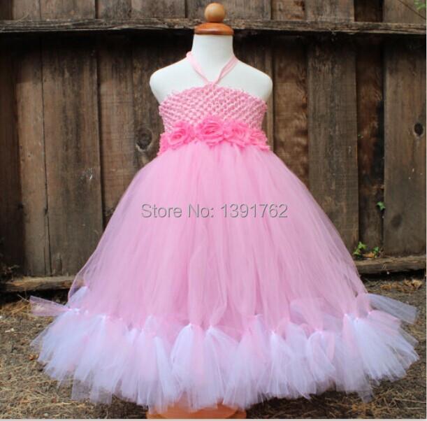 Angelina Ballerina inspired Pink and White Tutu Dress, Birthday Party Dress for little girls Halter Neck Princess Dress <br><br>Aliexpress