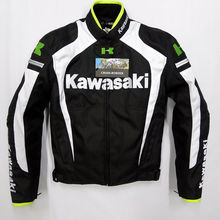 2015 neue ankunft männer motorradjacke KAWASAKI automobil motocross motorrad racing kleidung mit warme liner(China (Mainland))