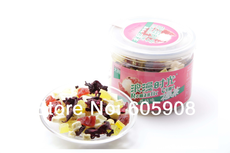 Juicy peach Assorted Dried Fruit Tea 50G Loose Sample Free Shipping