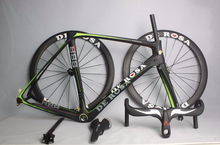 Frameset+Wheelset+Parts selling carbon road bike frame and basalt wheelset and carbon handlebar and carbon saddle all free ship(China (Mainland))