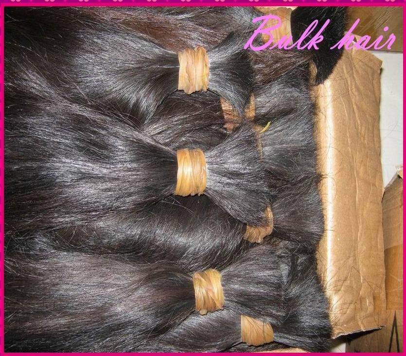 400g/lot bulk braid raw virgin human hair no wefts bulk Malaysian Natural Straight Texture Hair Distributor best choice !!(China (Mainland))