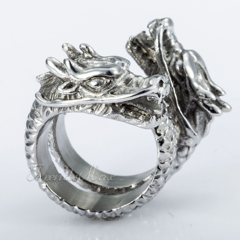 design silver tone 316l stainless steel ring