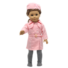 American Girl Doll Accessories Pink Stewardess Uniform Suit Doll Clothes for 18 Inch Dolls MG-203(China (Mainland))