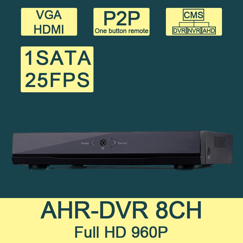 AHR6108-B2 8CH Hybird AHD DVR CCTV DVR Full 960H 720P 8CH DVR NVR HVR 3 in 1support Onvif HDMI P2P For AHD, IP &amp; Analog Camera<br><br>Aliexpress