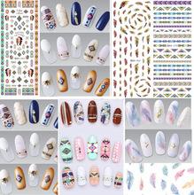 Manicure marca d' água Adesivo Decalque Adesivo DS257-271 Japão Manicure Etiqueta Do Prego