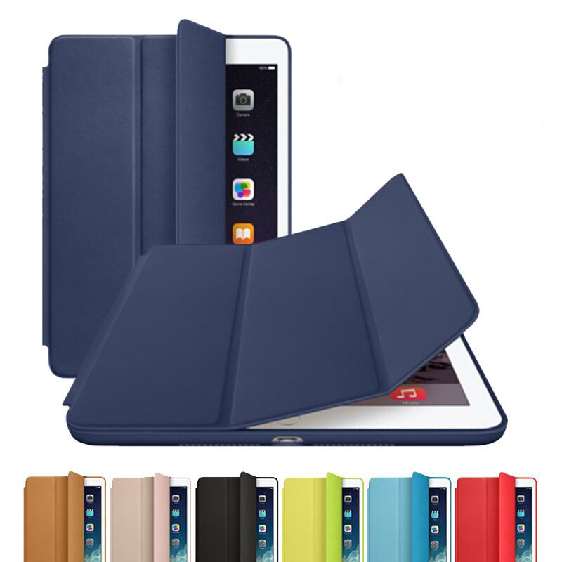 Official Original 1:1 Slim Smart Case for ipad air 1 Leather Ultra Thin Smart Stand Cover for Ipad air 2 for Ipad 5 6 Sleep / UP<br><br>Aliexpress