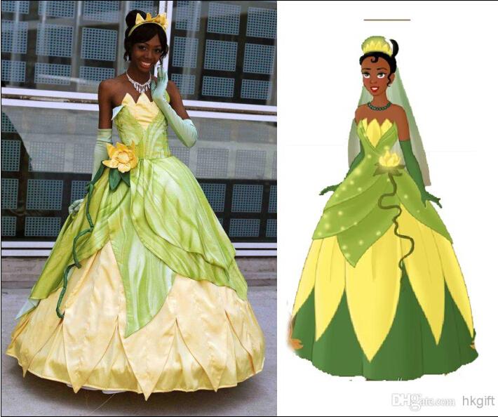 Princess Tiana Outfit: Aliexpress.com : Buy Custom Made Frog Tiana Princess Dress