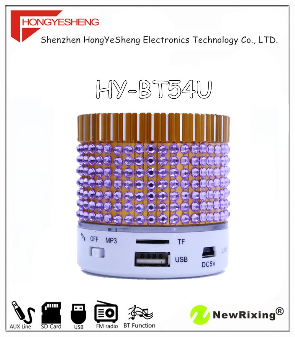 100% factory outlet portable bluetooth speaker, music player, support FM radio station search, HY-BT54 MP3 players(China (Mainland))