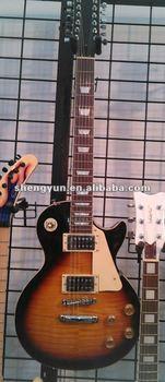 China factory LP standard custom OEM slash 12 strings flame maple body musical instrument electric guitar shop wholesale&Reatail