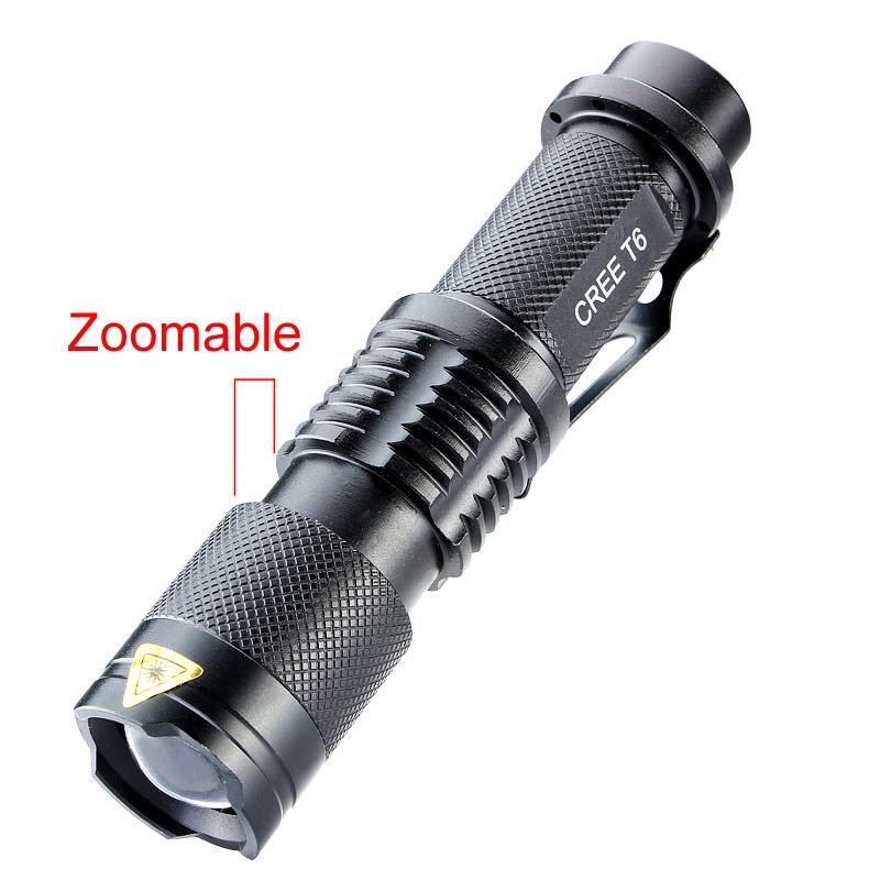 18650 Powerful LED Flashlight 3000 Lumen Cree XM-L T6 LED Portable Zoomable Flashlight Torch Lamp Flash Light 5 Modes Camping
