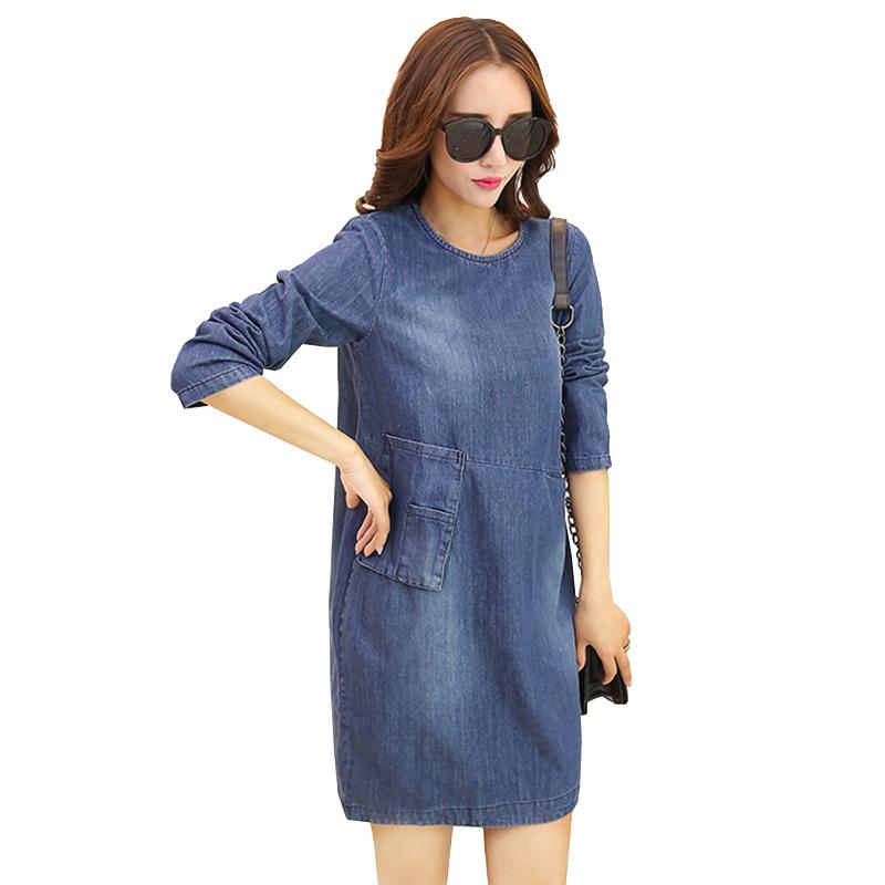 2016 Denim Dress Blue Jean Dresses For Women Online Shop Clothing Plus Size Korean Kawaii Loose Vintage Robe Femme Vestidos New(China (Mainland))