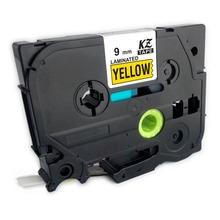 10PCS Tze Tz Labels Compatible For Brother P touch Tape 9mm tz621 tz 621 tz-621 Black on Yellow