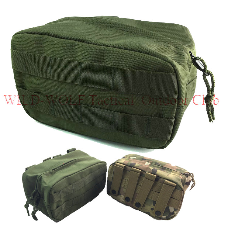 Men Durable Nylon Waist Pack Emergency Survival Medic Pouch Military Tactical Outdoor Sport Molle Running Square Tools Pocket(China (Mainland))