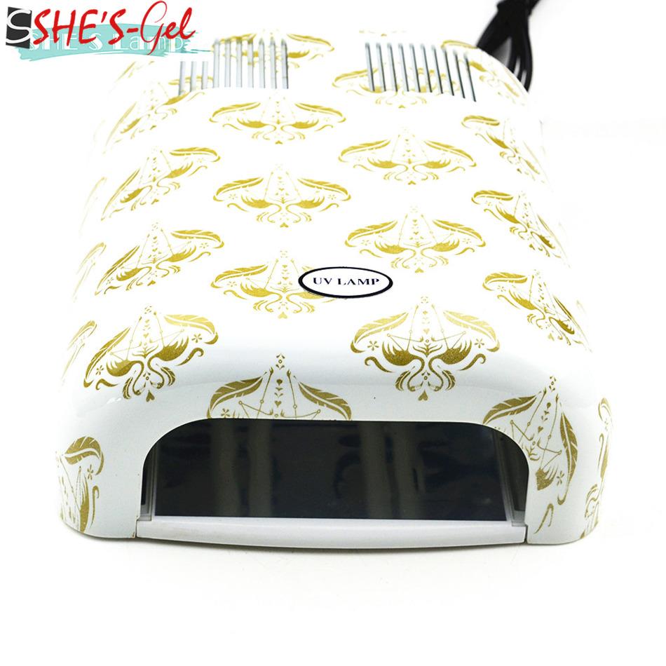 High Quality Nail Dryer with 4pcs 9W UV Bulbs 220V EU Plug Curing Light Nail Art Tools Nail Lamp For Nail Art(China (Mainland))