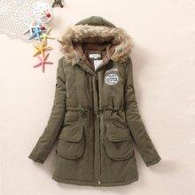 New Frock Coat Jacket Dress Korean The Long Winter Cotton Female Size Fur Thick Women parkas