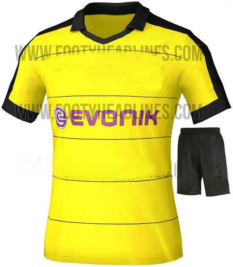 NEW 15/16 Borussia Dortmund home yellow soccer jersey kits 2016 away shirt REUS KAGAWA IMMOBILE BVB football uniform Embroidery(China (Mainland))