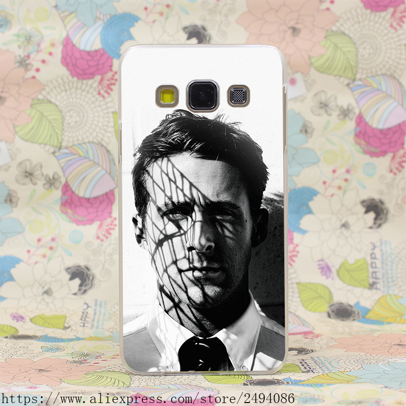 Ryan Gosling Black And White Style Hard Transparent Case Cover for Galaxy A3 A5 7 8 J5 7 & Note 5 4 3 2 & Grand 2 Prime(China (Mainland))