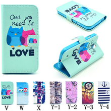 2015  Case For Sumsung  S4 mini cat Pattern Wallet About Pu Case For Samsung S4  Free Shipping  013425134