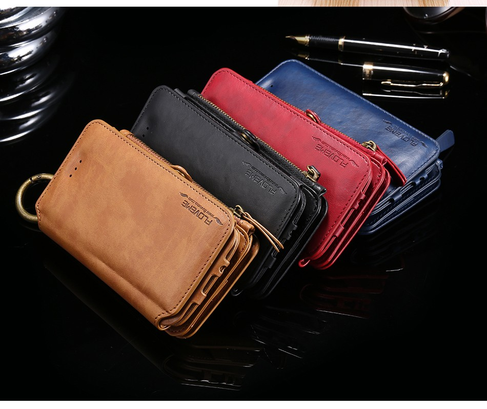 HotLeather Wallet Case For iPhone 7 6 6S/Plus 5 SE Cover For Samsung Note 7/Note5/Note 3/Note 4/ S7/S6 /Edge Plus Capa Phone Bag
