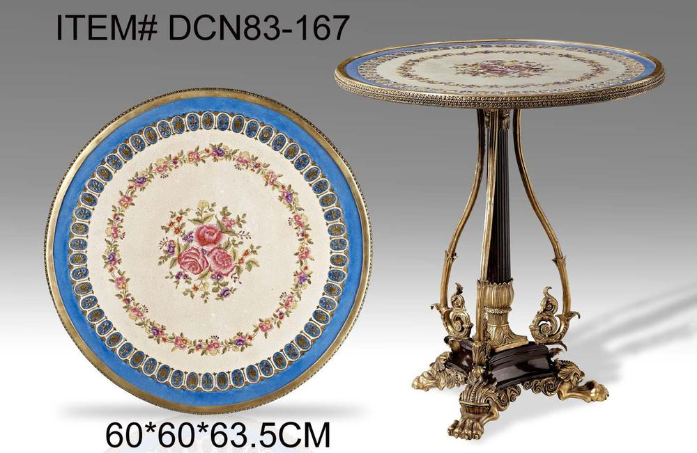 Ceramics with copper home accessories crafts ornaments round table coffee table to do the old retro luxury soft-mounted copper i(China (Mainland))