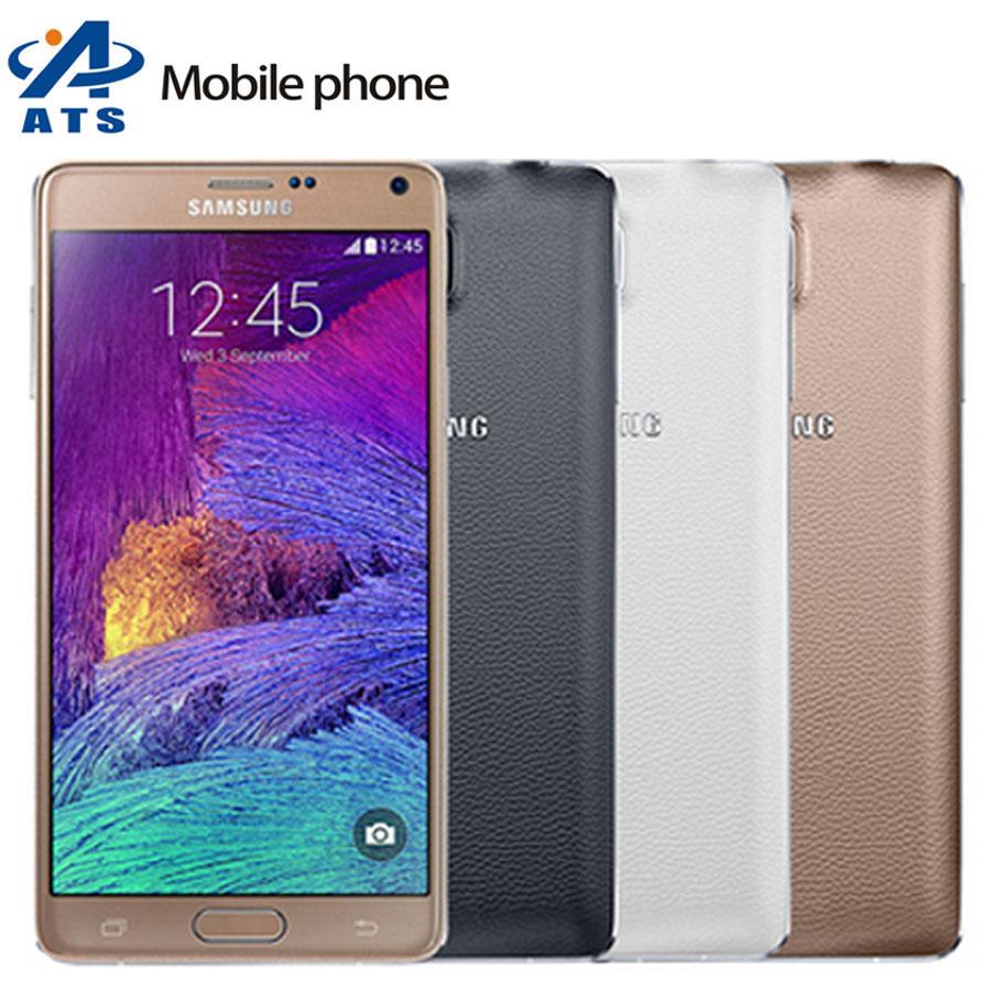 Original Unlocked Samsung Galaxy Note 4 Mobile Phone 5.7'' Screen 3GB RAM 32GB ROM 16.0MP Camera N910A N910F Cellphone(China (Mainland))