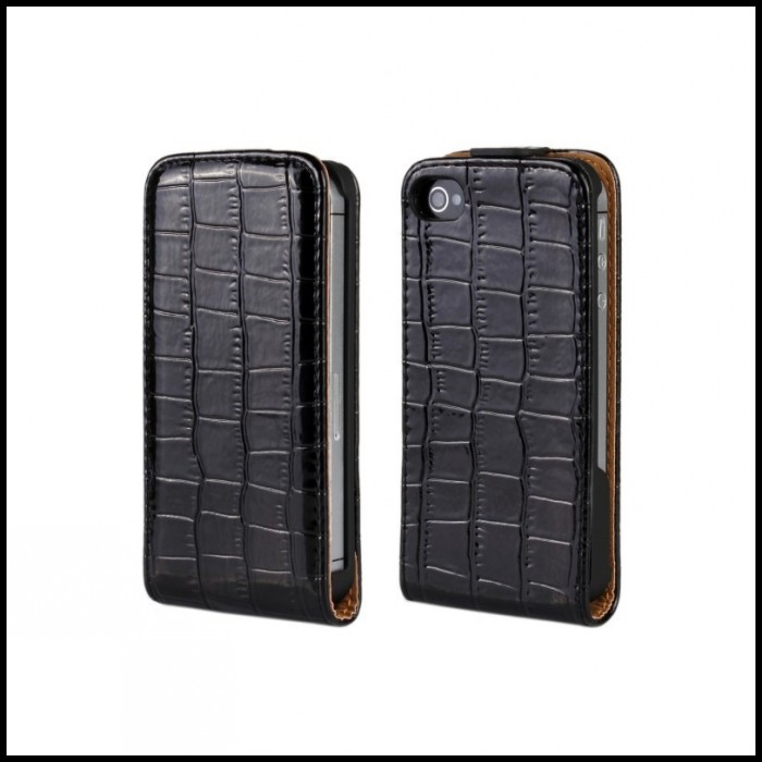 Mobile Cover For iPhone 4 4S Luxury Croco Leather Cell Phone Case For iPhone 4 4S(China (Mainland))