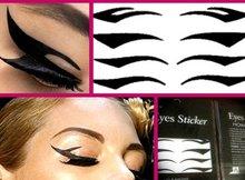 8PC/SHEET/PACK black stripe make up eyeliner  Smoky beauty sticker whcn(China (Mainland))