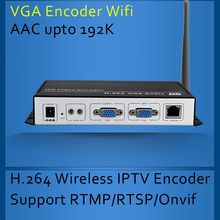H.264 Wireless VGA Encoder for IPTV broadcasting Support RTMP and Onvif VGA WIFI Encoder