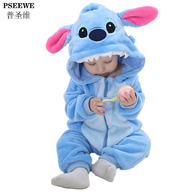 Новый год новорожденного ребенка детский комбинезон зима фланель стежка панда мальчик одежды комбинезон костюм девочка костюм животных комбинезон