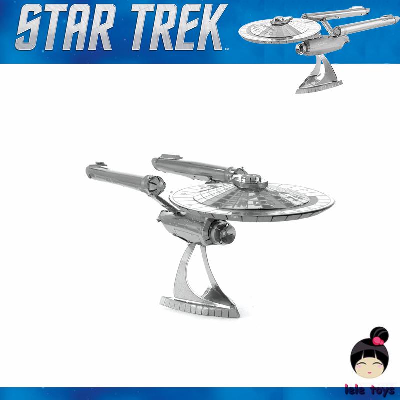 Star Trek ENTERPRISE NCC-1701 3D metal puzzle model nano 2 Sheets Wholesale price Stainless steel DIY Creative gifts<br><br>Aliexpress