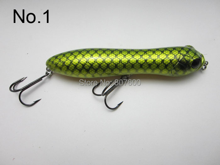 Crazy fish topwater surface crankbait bass pike lure for Top water bass fishing