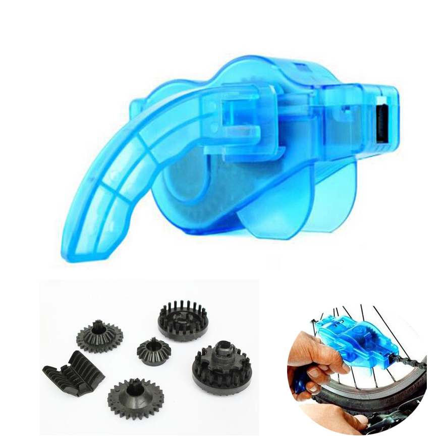 New Portable Bicycle Chain Cleaner,Bike Clean Machine Brushes Scrubber Wash Tool, Mountain Cycling Cleaning Kit Outdoor Sports(China (Mainland))