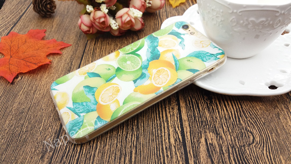 Hot Fruit Pineapple Lemon Banana Soft Silicon Transparent Case Cover For Apple iPhone 4 4S 5 5S SE 5C 6 6S 6Plus 6sPlus Coque