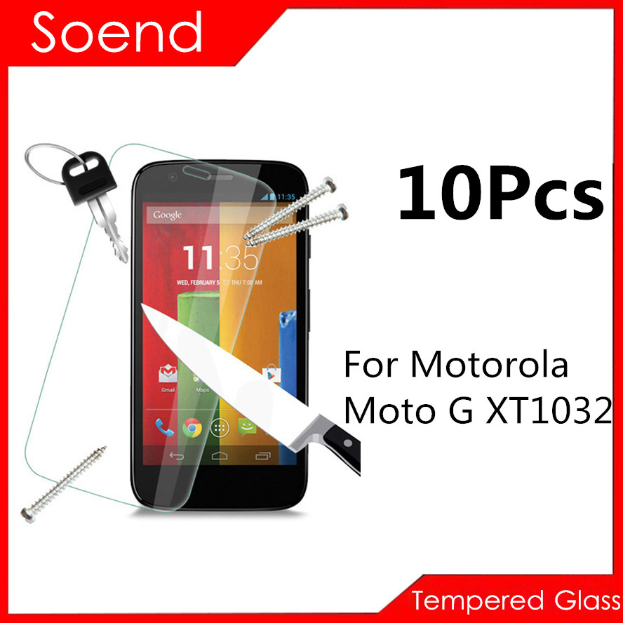 10Pcs/Lot Tempered Glass Screen Protector For Motorola Moto G XT1032 XT1033 4.5