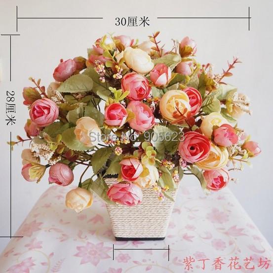 tree peony,artificial tree-peonys with vase ,0375,five colors available, free shipping ,decoration silk tree-peony(China (Mainland))