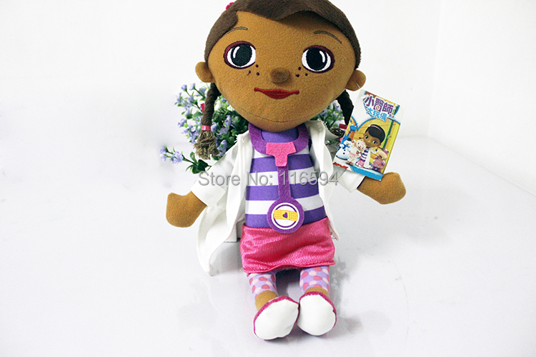 factory supply wholesale 10pcs/lot 33CM Cartoon Doc Mcstuffins Plush Toy Doctor Girl Stuffed Doll for Children Gifts<br><br>Aliexpress
