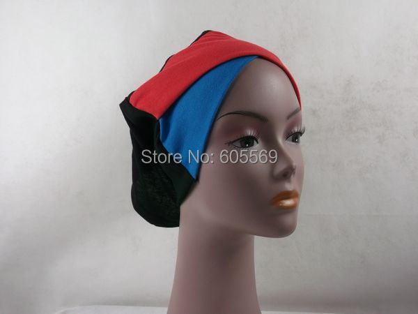 ih043 newest multi-colors cotton muslim tube hats with assorted colors in extra long size with free shipping.(China (Mainland))