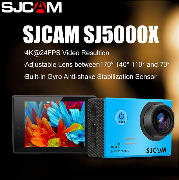 SJCAM Brand SJ5000X Elite WiFi 4K 24fps 2K30fps Gyro Sports DV 2.0 LCD NTK96660 Diving 30m Waterproof Action Camera<br><br>Aliexpress
