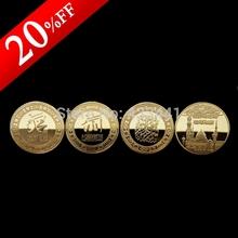Saudi Arabia Gold Plated Coin,Free shipping,3pcs/lot,Bismillah, Allah, Saudi Arabia Mecca Quran Islam Muslim Mosque Coins(China (Mainland))