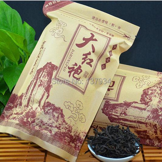 250g Top Grade Chinese Dahongpao Big Red Robe Oolong tea the original China healthy care Green Food Da Hong Pao Free Shipping(China (Mainland))