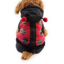 Armi store Ladybug Design Dog Coat Dogs Windbreaker Coats 6141027 Pet Clothes Supplies S M L XL(China (Mainland))