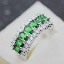 Sterling Silver Sapphire CZ Diamond Ruby Jewelry Wedding Rings for Women Anel Feminino Joyas de Plata