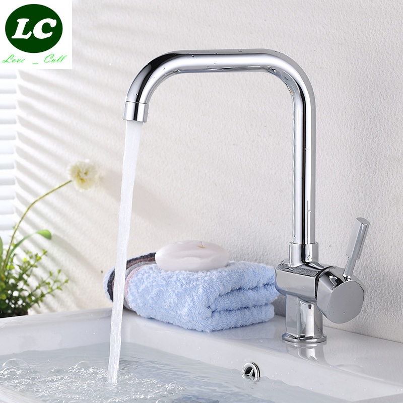 free shipping Kitchen Faucets tap Basin faucet The copper body cold&hot tap washing basin sink tap with hose(China (Mainland))