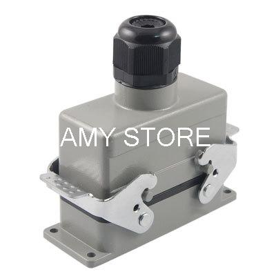 PG21 28mm Dia Cable Entry Connector Metal Housing Gray