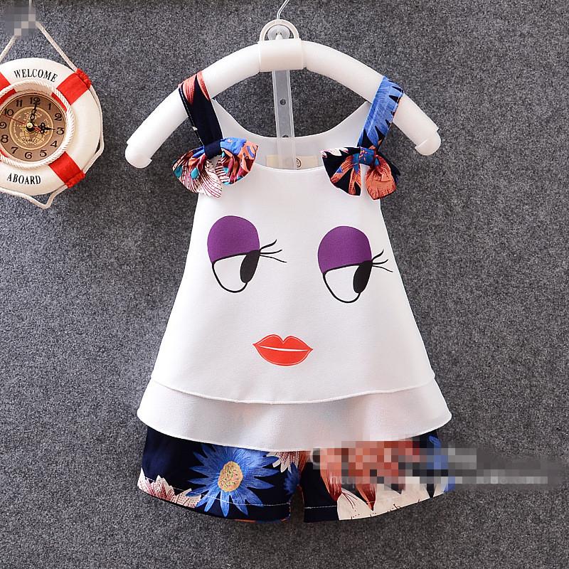 Fashion Summer baby font b girl b font font b clothing b font sets font b